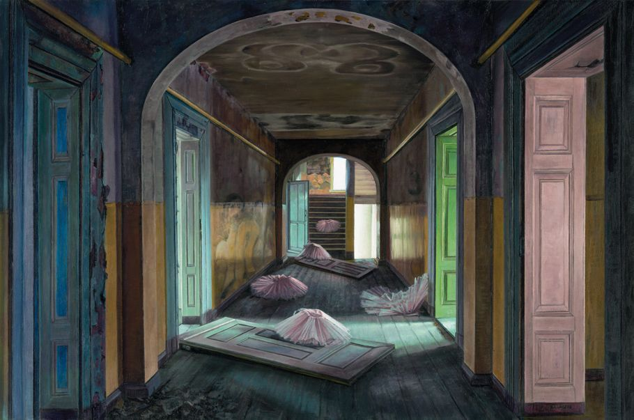 Aris Kalaizis | The Empty House | Oil on wood | 16x24 in | 2012