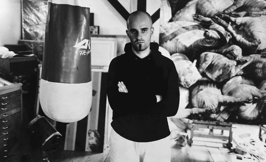 Aris Kalaizis in his first studio (1997)